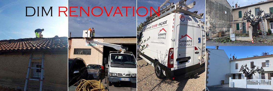 Dim Rénovation, travaux de couverture et de ravalement des façades
