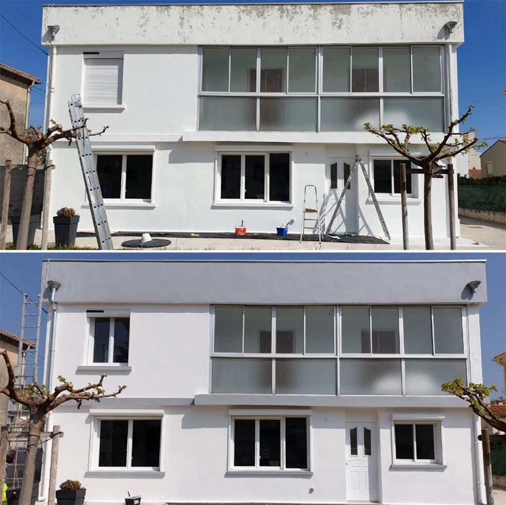 Avant-après façade Miramas avenue Marius Serre