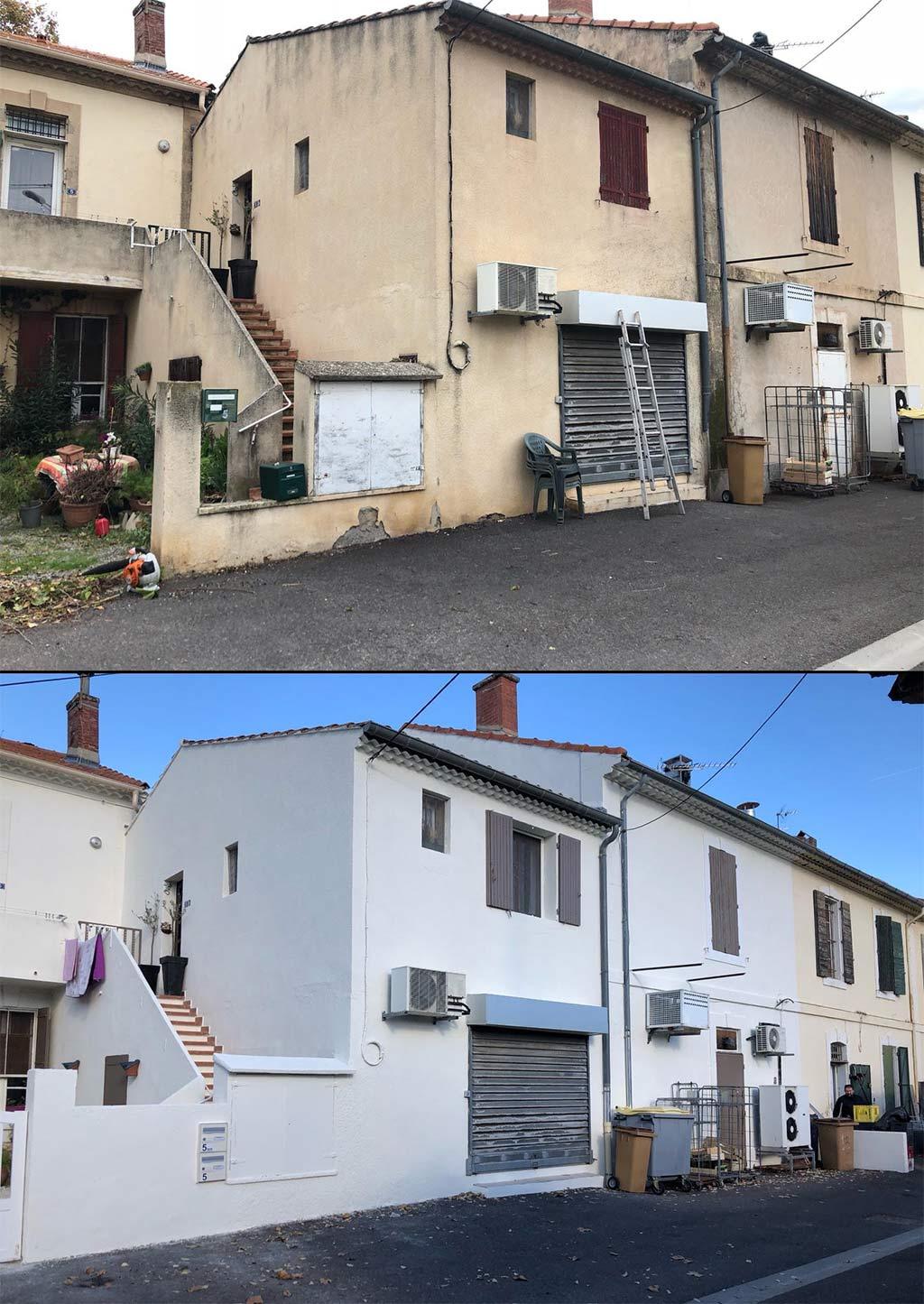 Avant et après, 2018 à Saint Martin de Crau